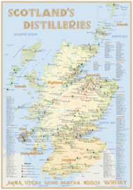 "Map ""Scotland's Distilleries"" 2021 Edition - Large - 70x100cm"