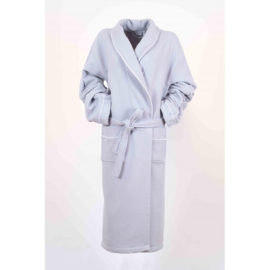 Bamboe badjas, licht grijs - wafelmotief