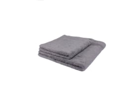 2 stuks badhanddoek grijs 70x140 cm