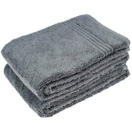 2 stuks badhanddoek antraciet 70x140 cm