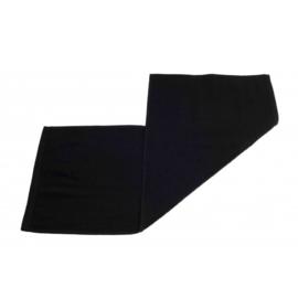 Gastendoek zwart 30x70 cm