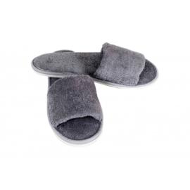 Sauna slippers bamboe - grijs