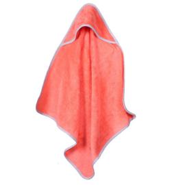 Baby bamboe handdoek met capuchon - oranje