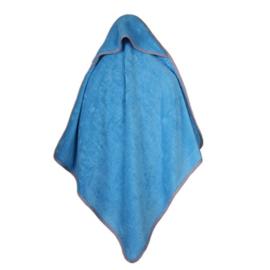 Baby bamboe handdoek met capuchon - blauw