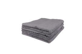 2 stuks douchehanddoeken grijs 50x100 cm