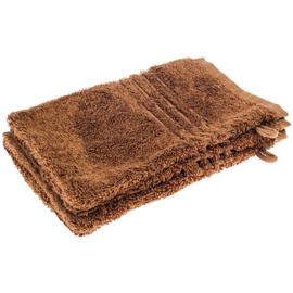 5 stuks washanden bruin 21 x 16 cm
