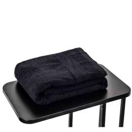 Saunahanddoek zwart 90x200 cm