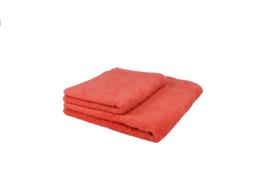 2 stuks badhanddoek oranje 70x140 cm