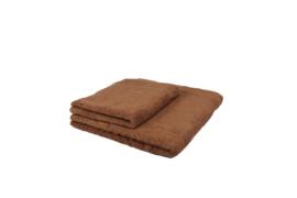 2 stuks douchehanddoeken bruin 50x100 cm