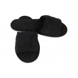 Sauna slippers bamboe - zwart