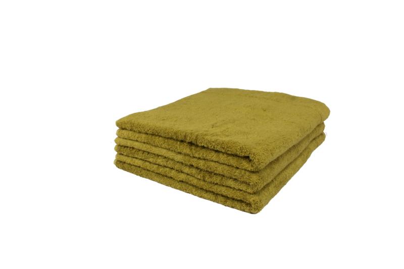 2 stuks badhanddoek groen 70x140 cm