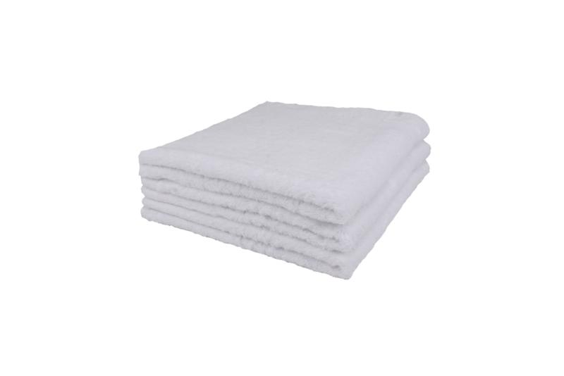 2 stuks badhanddoek wit 70x140 cm
