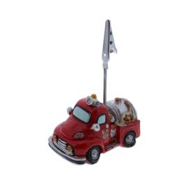 Brandweerwagen fotoclip/kaarthouder