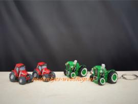 Sleutelhanger rode tractor