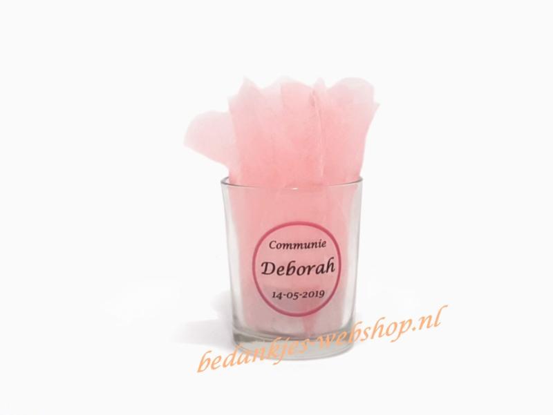 Glazen theelichtje (zonder suikers)