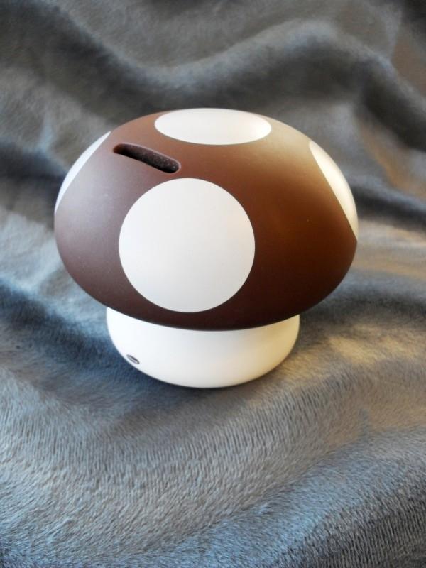 "Spaarpot paddenstoel ""Pitou"", bruin"