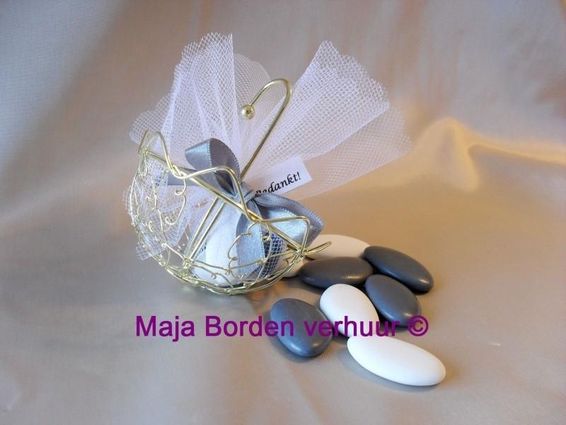 Goudkleurig parapluutje met suikertjes