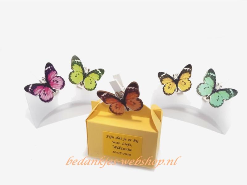 Koffertje met vlinder
