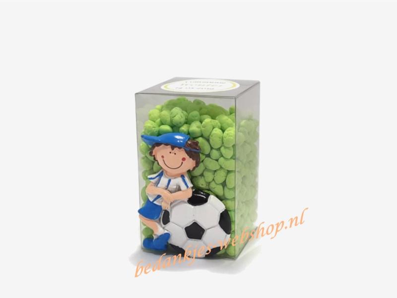 Voetbalfiguurtje met manna