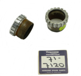 Triumph Bonneville Special T140D Lockring exhaust pipes, Partno. 71-7120