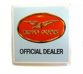 Genuine Moto Guzzi dealer sign 80x80x7