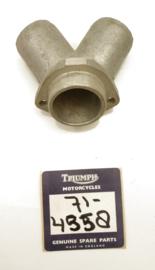 Triumph T160 Exhaust manifold, centre, Partno. 71-4358