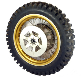 "EML sidecar cross Rear wheel complete 17"" alloy disc type 550-17 Trelleborg tyre"