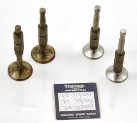 Triumph Twenty-One + 3TA 350 Unit Twins 1957-1966 Valves & Guides set cplt (E3738-E3739-E3208)