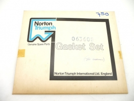 Norton Commando 750 gasket set genuine (06-3608)