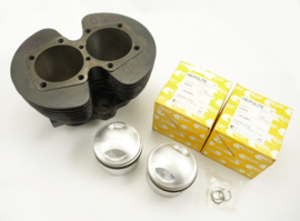 Triumph T140 Cylinder barrel (used) + new .040 O.S. hepolite piston (71-4005)
