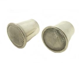 Amal carburettors Bell mouth polished alloy, for Amal Monobloc 389