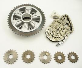 Jawa / CZ  chain sprocket kit (602 56 210-kit) (591 56 410-kit)