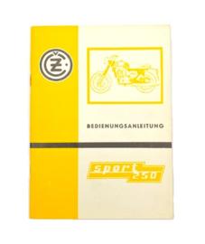 CZ 471 Sport 250 Bedienungs Anleiting / Workshop manual