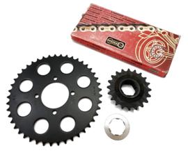 Triumph T140 520 Sprocket & Chain kit, Partno. 37-7180/57-7067