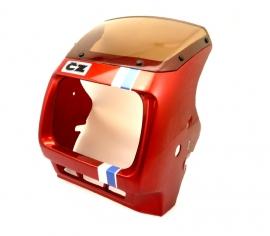 CZ 125 - 180 cc headlamp-cover Red (4519 487 36)
