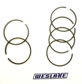 Rickman / Weslake 8-valve Twins Piston ring set, Partno. W38-W40