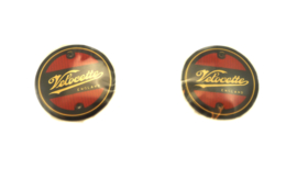 Velocette Viper-Venom Pair of tankbadges red/silver (KA315)