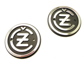 CZ singles & twins Pair of tankbadges for type 476 - 477 (487-39-053 / 477-39-010)