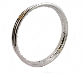 "Jawa / CZ steel rim chrome plated 16"" 36 H WM1 (57 mm)"