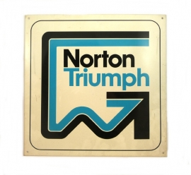 Norton / Triumph dealer sign