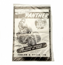 Panther poster in black and white print