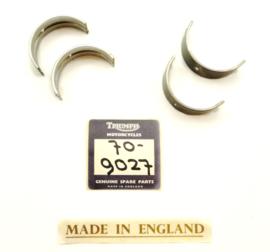Triumph T150 + BSA A75 Main bearing shells .010 undersize, Partno. 70-9027