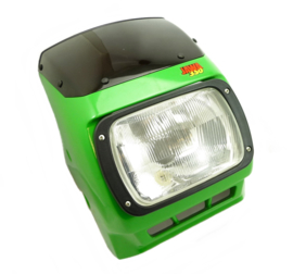 Jawa 640 - 641 Headlamp  unit complete set with cover (Green) (639 36 115 + 443 311 813 101)