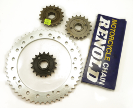 Triumph Tropy Trail TR5T Sprocket & Chain kit, Partno. 57-1558, 37-4140