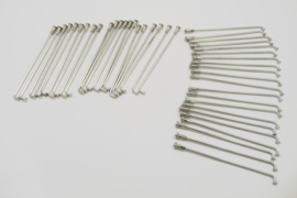 Set of 40 S/S spokes & nipples (06.2525/06.2526/02.1693)