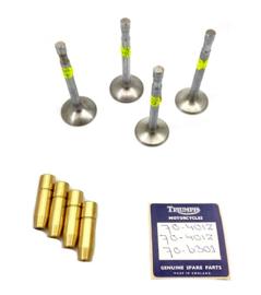 Triumph Tiger 100 - T100 - C - S  Valves & Guides set   Opn. 70-6853  70-6854    70- 6301 PB