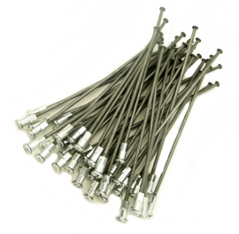 "Wasp side-cars Set of 40 galvanised spokes & nipples for 16"" side-car wheel with  BSA QD hub"