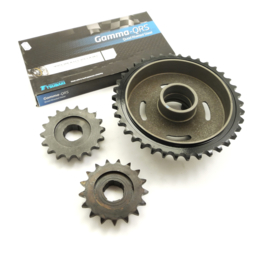 Royal Enfield Bullet 350 - 500 4-speed Sprocket & chain set (145406/801479/112212)