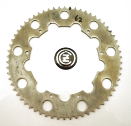 CZ 125-250-360-400MX Rear wheel sprocket 62T, Partno. 980-56-523