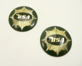 BSA A7 SS 500CC Twin 1957- pair of Tank badges (42-8105)